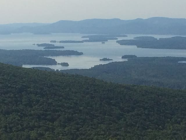 View of Squam Lake from Red Hill Fire Tower