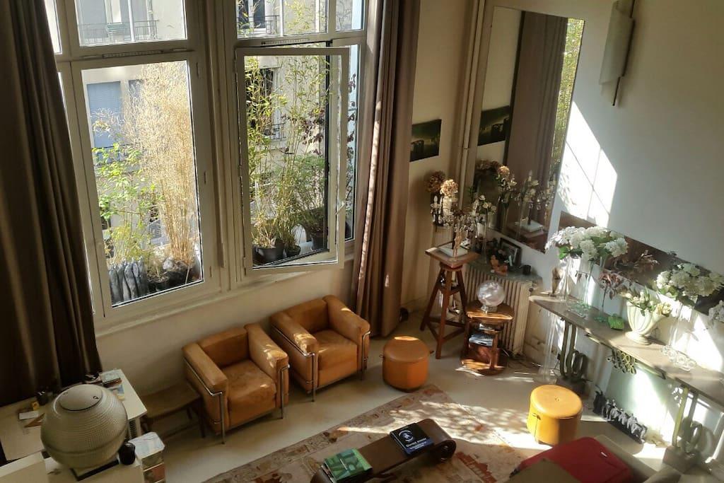 superbe atelier d 39 artiste a montparnasse lofts zur miete in paris le de france frankreich. Black Bedroom Furniture Sets. Home Design Ideas