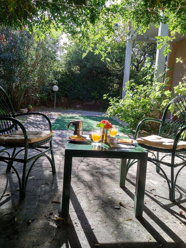 Brunch in the private garden