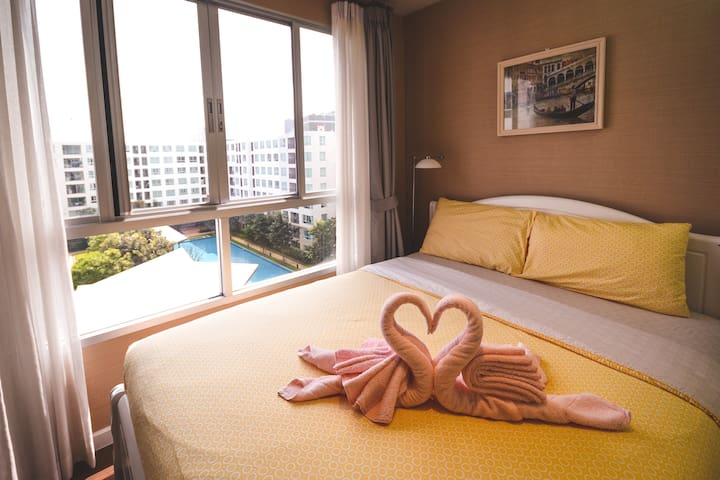 🍓 D NIM # Beautiful Room 2BR + 2BD Lovely Room 🍓