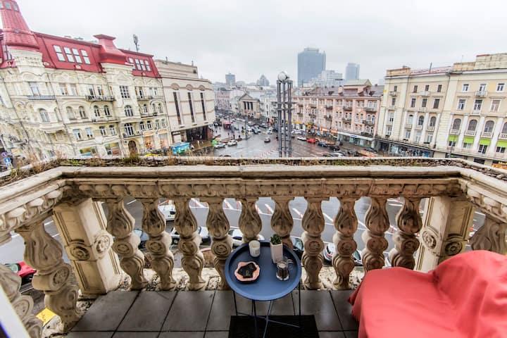 Kiev Center - Lva Tolstogo Square