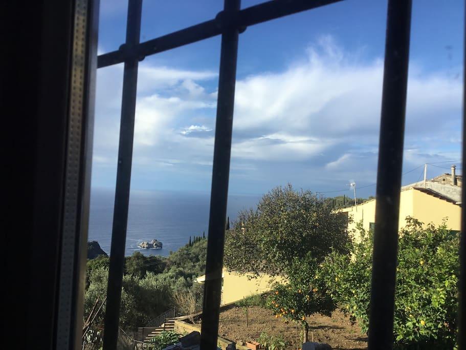 La vue depuis la chambre, vers l'ouest