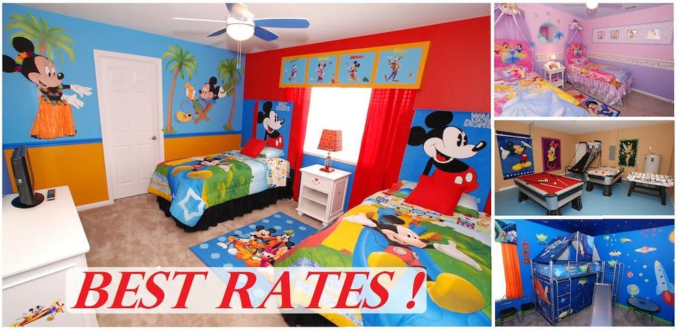 Story Time Kingdom 6 Bed /4 Bath  2 miles 2 Disney
