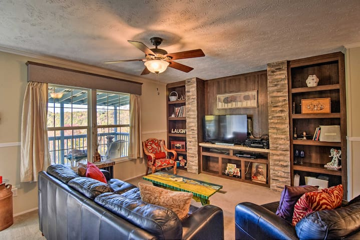 NEW! Cozy Elevated Erwin Home w/Mountain-View Deck