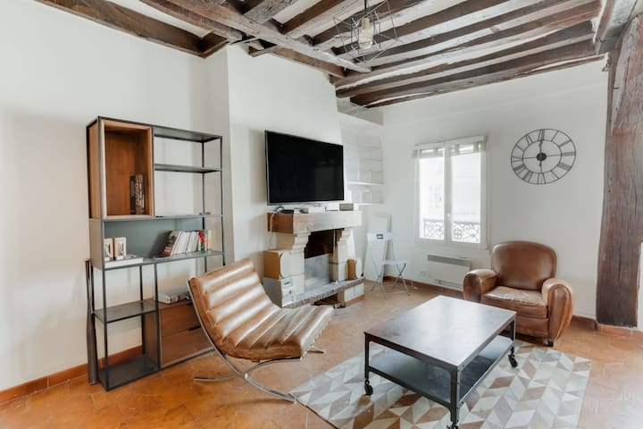 BEAUTIFUL AUTHENTIC APARTMENT  IN THE HEART OF PARIS