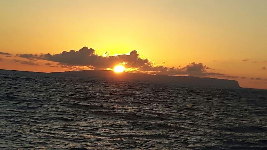 One of Kauai's famously beautiful sunsets
