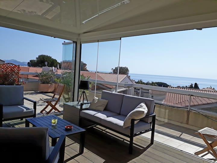 Bel appartement avec superbe vue mer panoramique