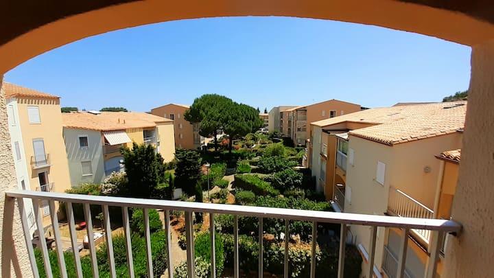Cap d'Agde, T2 Mezzanine pour 6pers, proximité mer