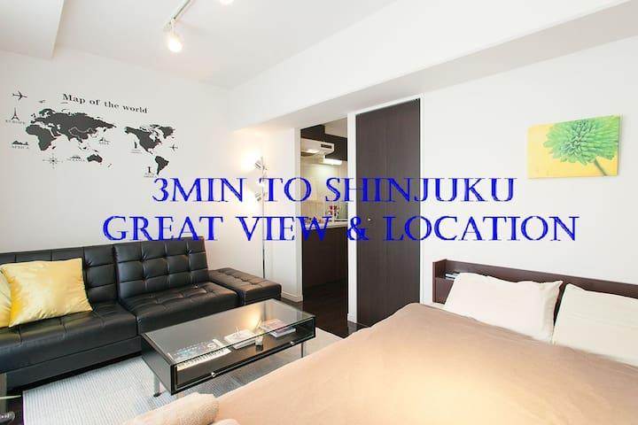 !!3min to Shinjuku!! Great view & Location#D08 - Shinjuku - Apartment