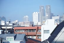 Tokyo Metropolitan Government is visible from the balcony!