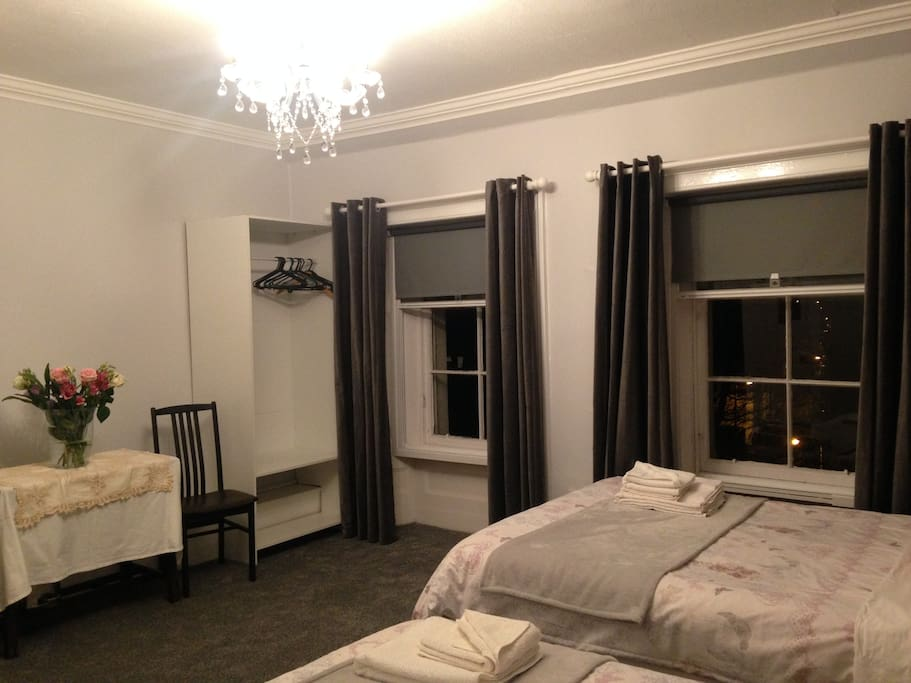 Triple room on top floor, spacious and lovely views.