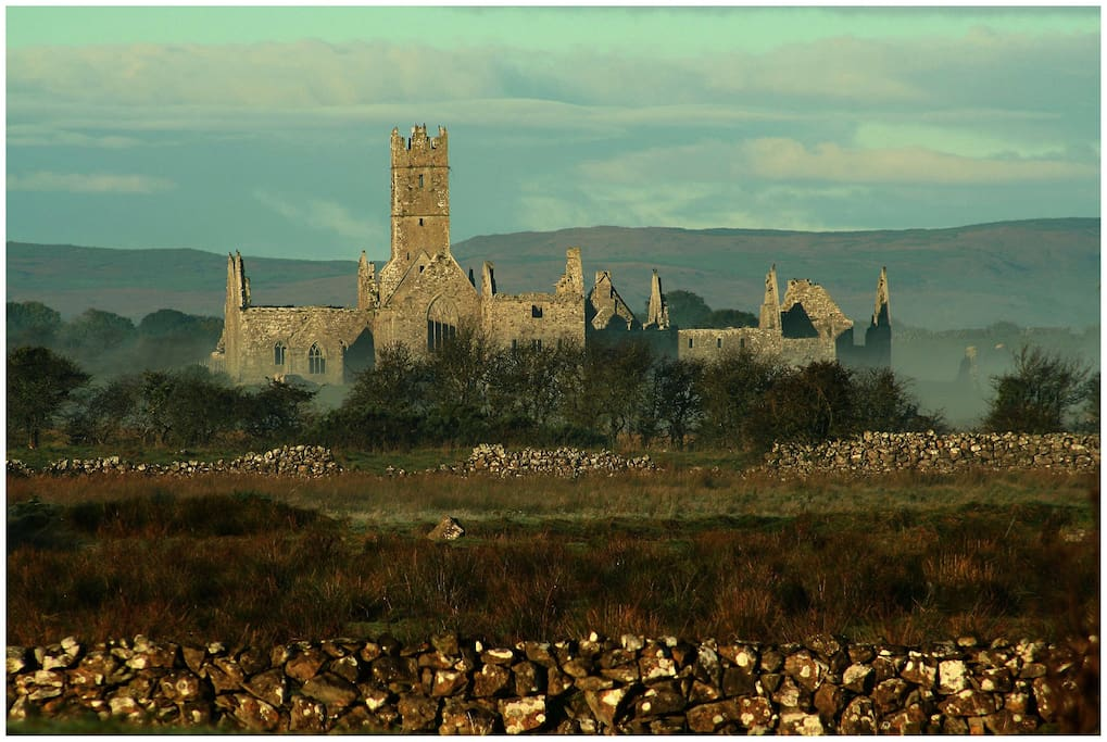 Ross Abbey 1 km from house