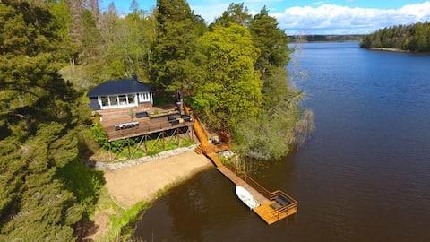 Traumhaus direkt am See mit Sauna