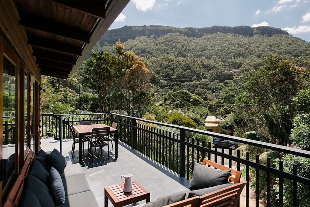Stunning escarpment views from the deck
