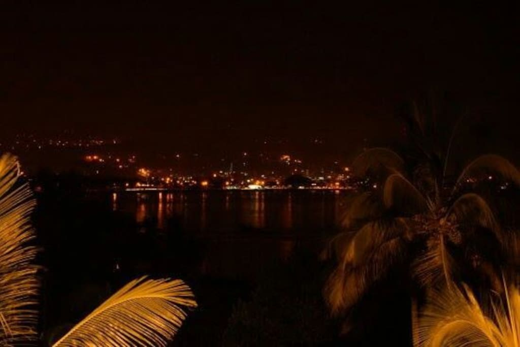 night views from veranda
