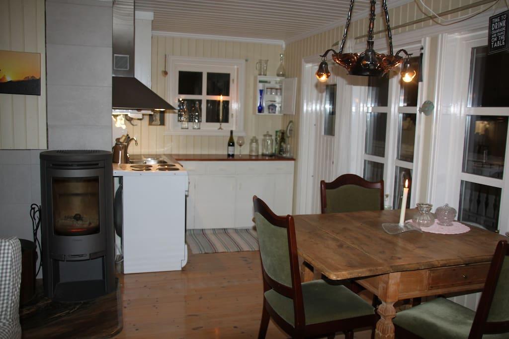 Hyggelig kjøkkenkrok