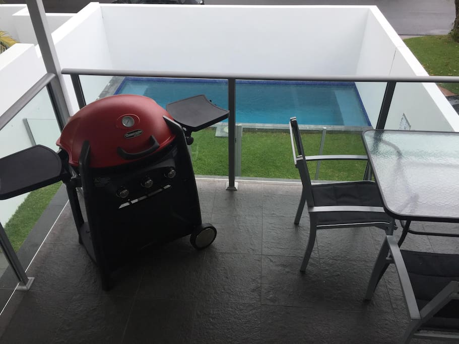 Front BBQ Balcony overlooking the pool