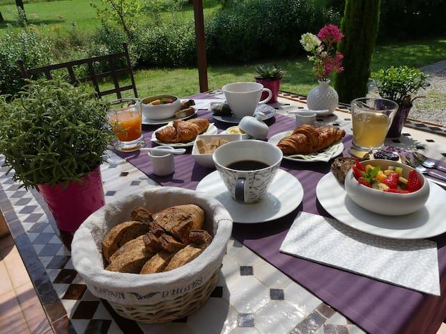 Le petit-déjeuner gourmand