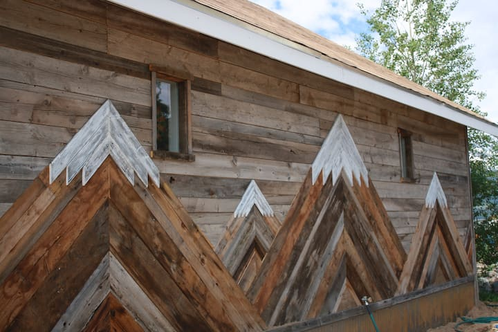 North wall of cabin