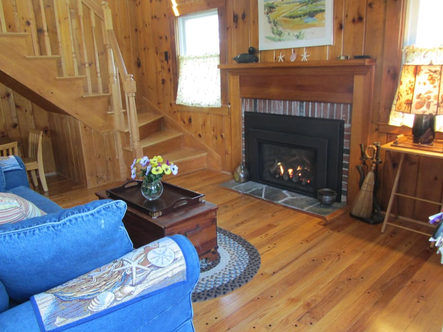 There's a gas fireplace in the Living Room for rainy days or cool mornings!