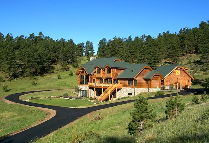 Secluded Mountain Log Home (Upper Twin Bedroom)