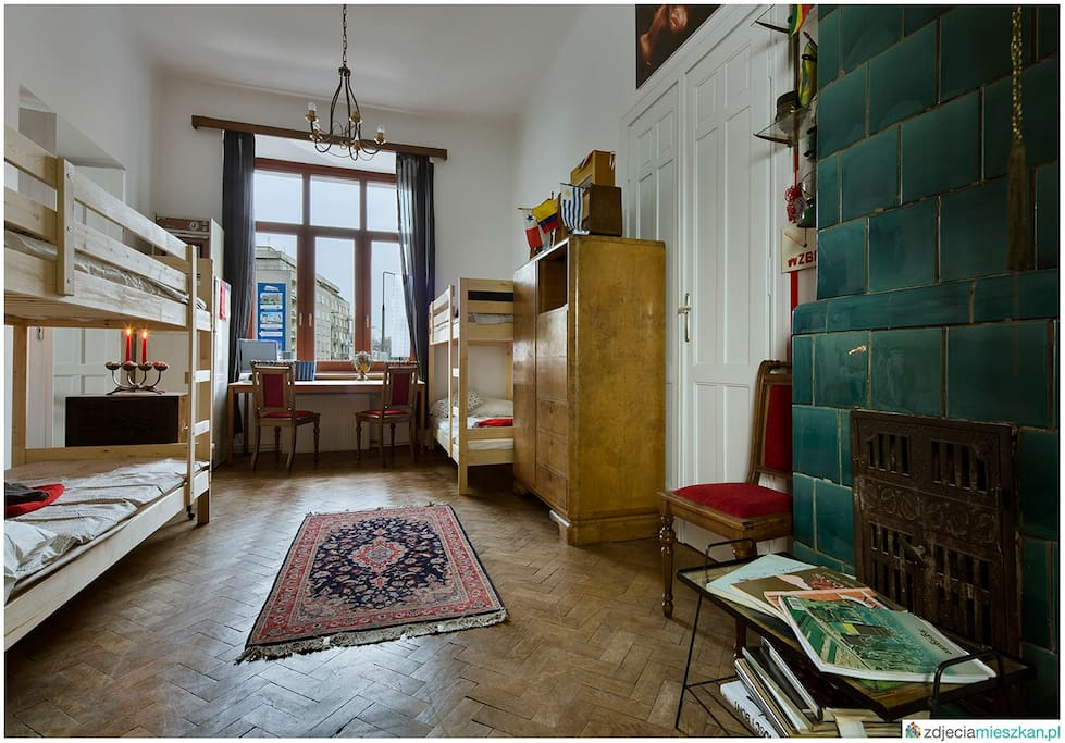 Old apartment with antique stoves.
