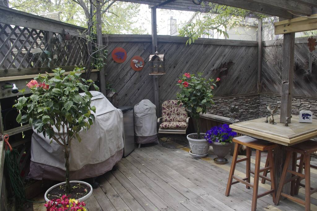 Deck with Grill and Fire Pit