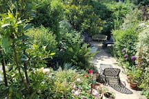 View of Garden in the summer from the house