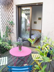 The cute little green room and its charming patio - Terssac - Haus