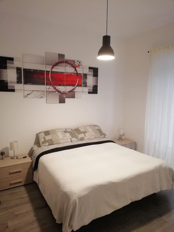 Double room in modern apartment