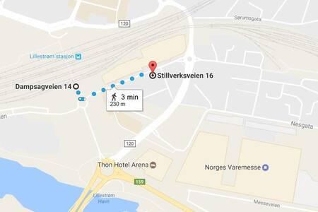 LILLESTRØM 3 min fra TOG/ BUSS til Oslo/Gardermoen - Lillestrøm