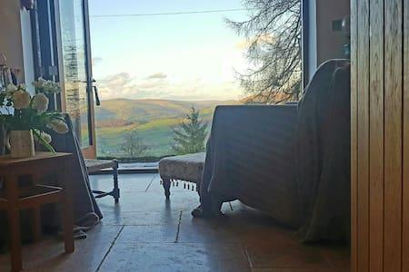 A1 views & own sitting room, hot tub & steam room - Llangattock - Haus