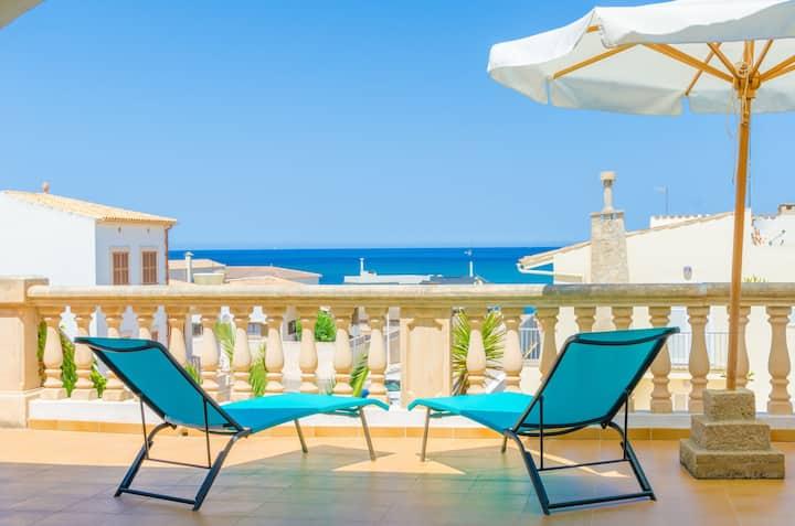 MAR I CEL - Chalet with sea views in Son Serra de Marina. Free WiFi