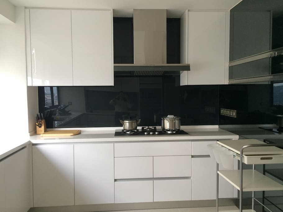 Don't feel like eat out , here is the place to show off your cooking skill .....fully equipped with hood & hob, oven and microwave, fridge and dishwasher & mini bar will coffee & tea