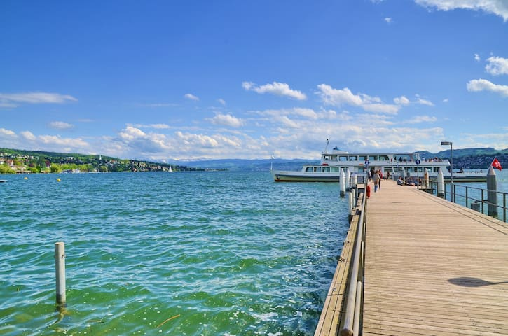 Luxury 2-room apartment near the lake of Zurich - Curych
