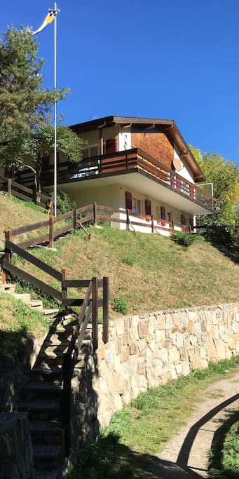 entrance of chalet 2