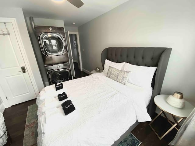 Bedroom #3 with washer and dryer