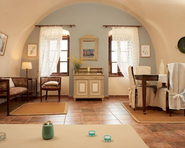 IRIS traditional stone house, Areopoli main square