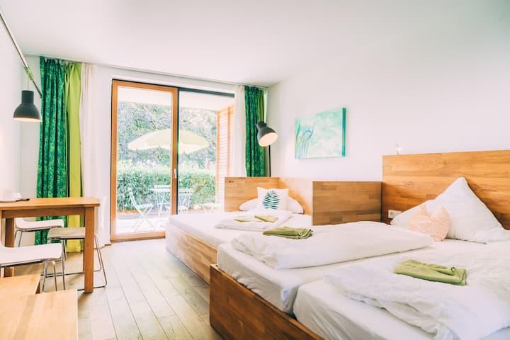 Studio Comfort Terrace at Gut Hügle Family Farm