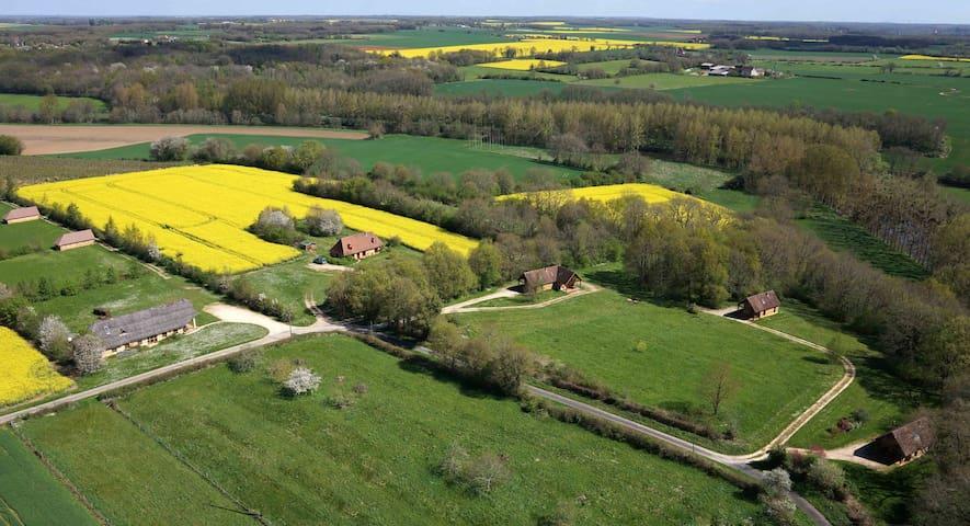 Gîte en terre en pleine campagne