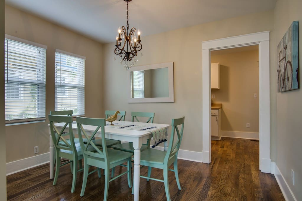 Sweet dining area to enjoy meals at home, or just chat around the dinner table.