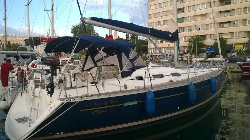 A beautiful sailing yacht rented only with skipper