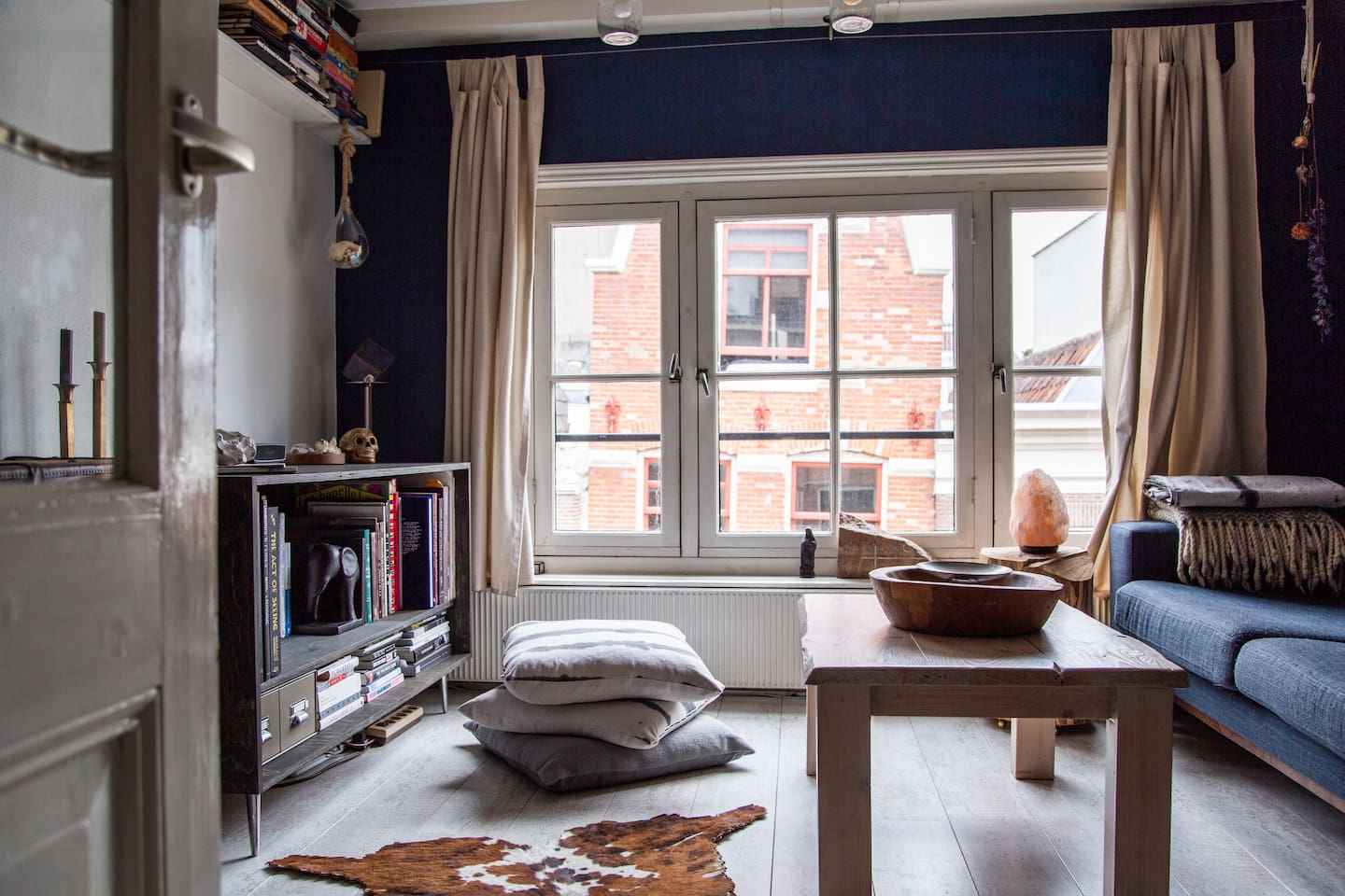 Cozy living room in the middle of Amsterdam