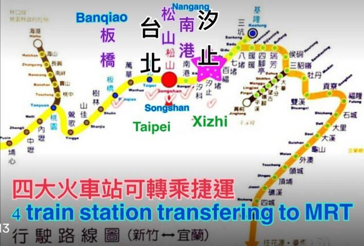交通方便 good public transport