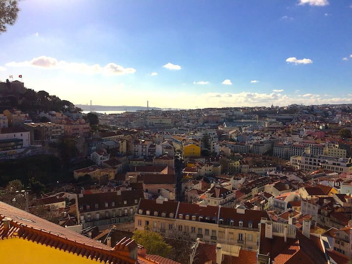 Graça Belvedere, final view towards Tejo