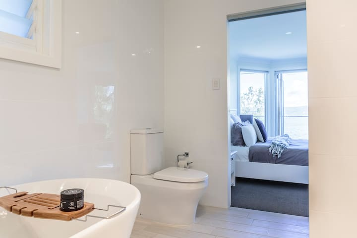 Master ensuite with bath and shower