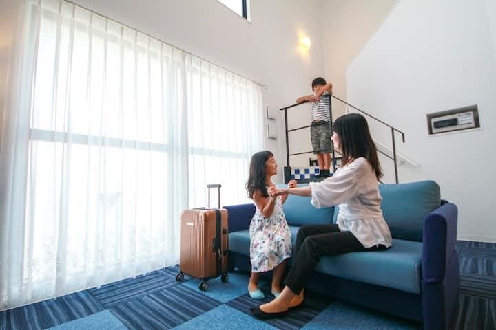ジャパニーズメゾネット和洋室✿沖縄初の全室メゾネットスイート✿