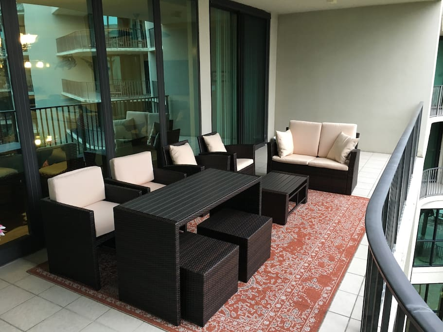Patio lounge - 4th floor with direct views of Perdido Pass