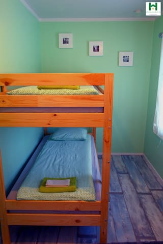 Third  bedroom with  a bunk bed for 2.