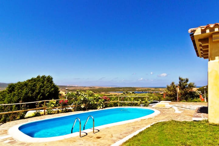 Sea view Villa with private pool up to 9  guests